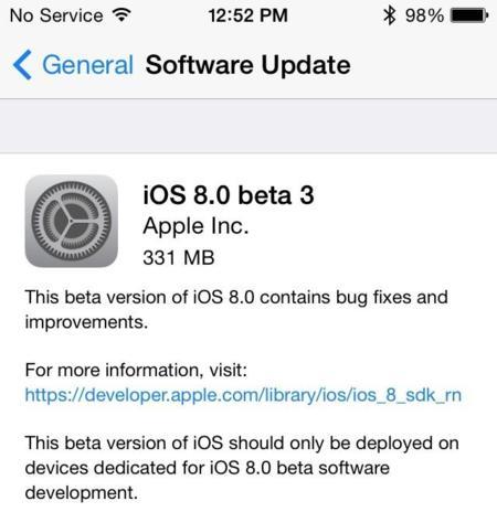 iOS beta3