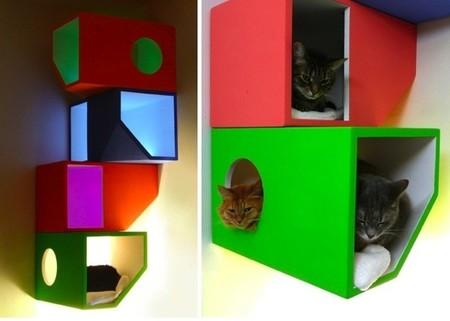 Catissa, una casa alegre y colorista para gatos