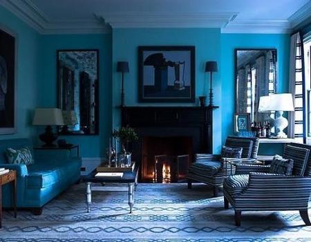 Un salón azul no siempre es un acierto