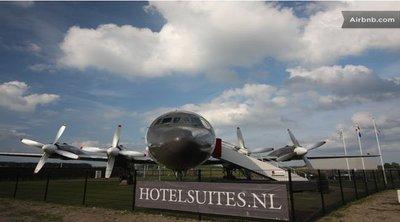 Hoteles raros: avión suite en Holanda