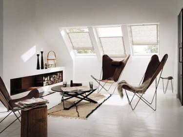 Cortinas para ventanas de tejado, más suaves y delicadas en primavera