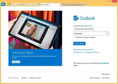Login en outlook.com