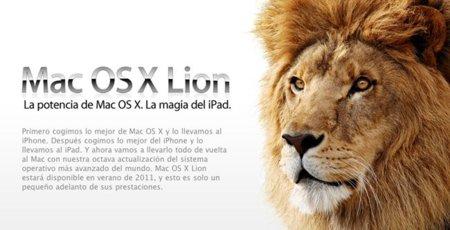 Mac OS X 10.7 Lion será más táctil e integrará una AppStore y FaceTime