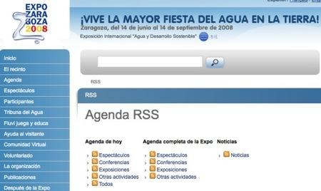 La Expo de Zaragoza en RSS