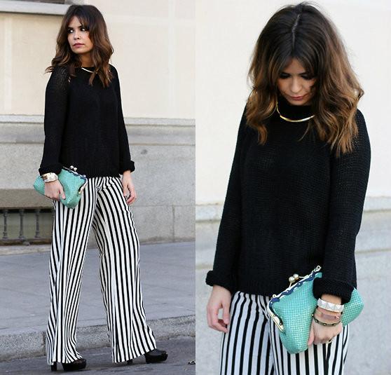 Sara pantalones rayas