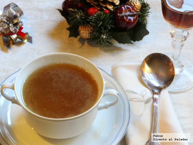 Consom navide o receta for Consome de navidad