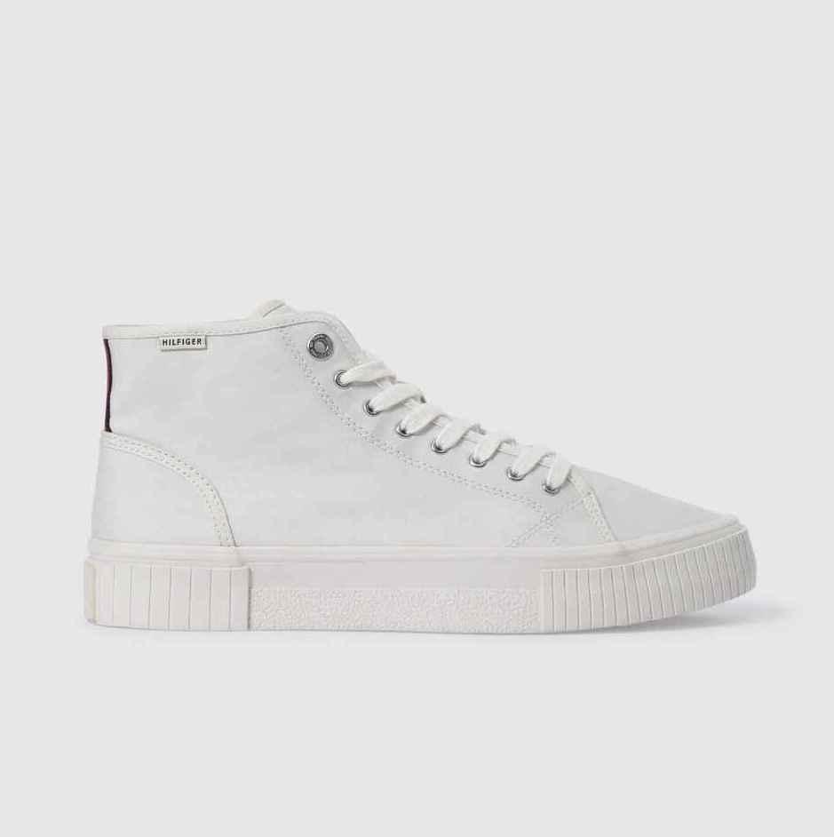 Zapatillas deportivas de hombre Tommy Hilfiger en blanco con cordones