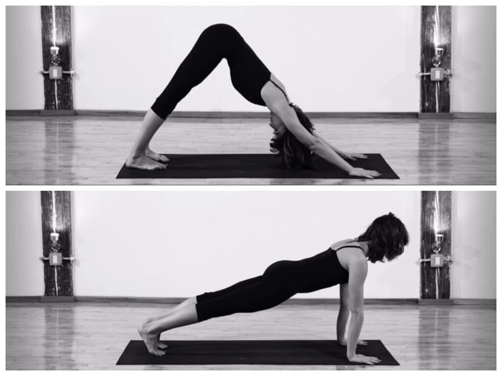 Del perro boca abajo al plank o plancha: una secuencia de Yoga para trabajar tus hombros y tu abdomen
