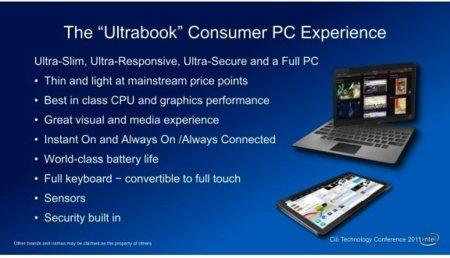 Intel quiere Ultrabooks táctiles
