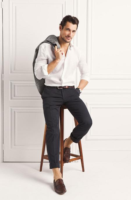 Pantalon chino azul marino Massimo Dutti