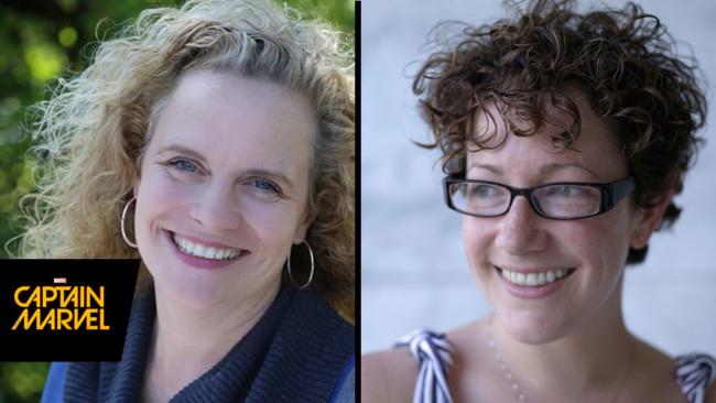 Nicole Perlman y Meg LeFauve, guionistas de Capitán Marvel