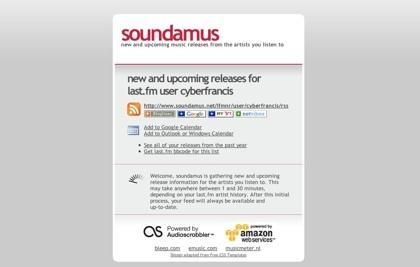 Soundamus, próximos lanzamientos de tus músicos favoritos en un feed