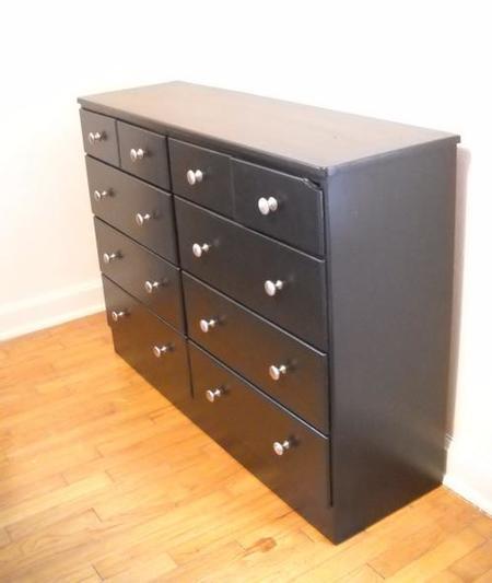 Como pintar y renovar un mueble de madera paso a paso for Muebles con cajones de madera