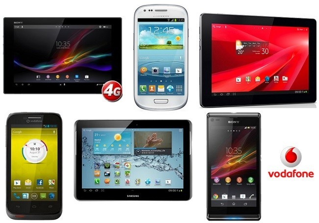 Packs smartphone + tablet de Vodafone