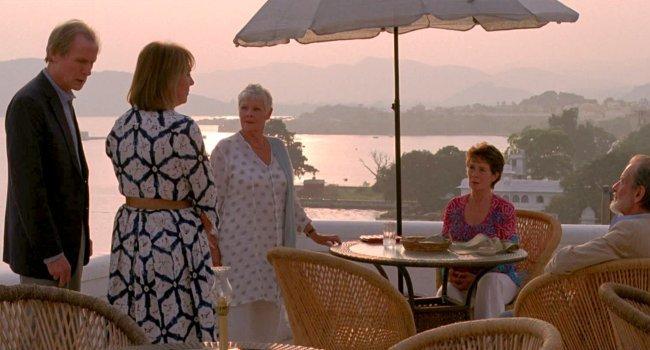 Bill Nighy, Penelope Wilton, Judi Dench, Celia Imrie y Ronald Pickup en El Exótico Hotel Marigold