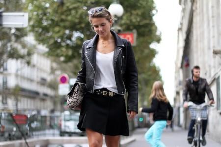 chaqueta zara outfit blanco y negro