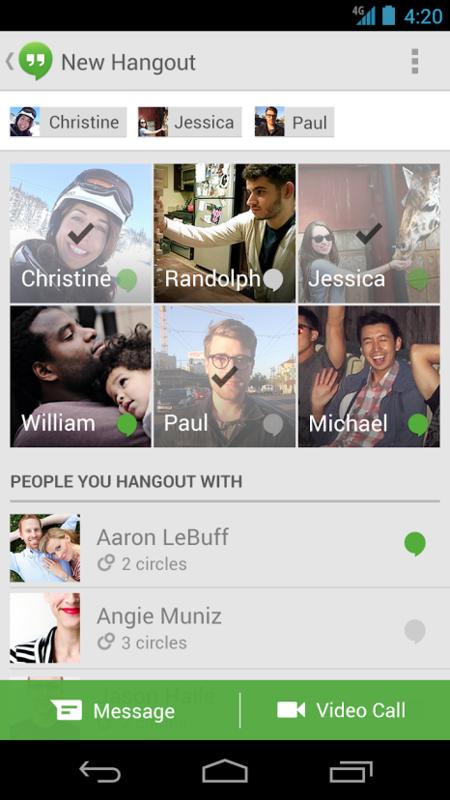 Google Hangouts para Android se actualiza con estado de conexión y otras mejoras