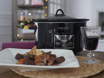 Receta de Boeuf Bourguignon en Crock-Pot