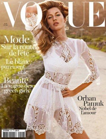 Primera portada de Emmanuelle Alt para Vogue Francia con Gisele Bündchen: yendo a lo seguro ¡Error!