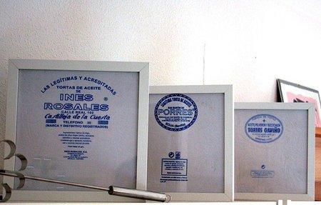 Una buena idea: envoltorios de tortas de aceite enmarcados