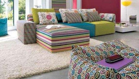 Kube basic, un sofá modular multicolor