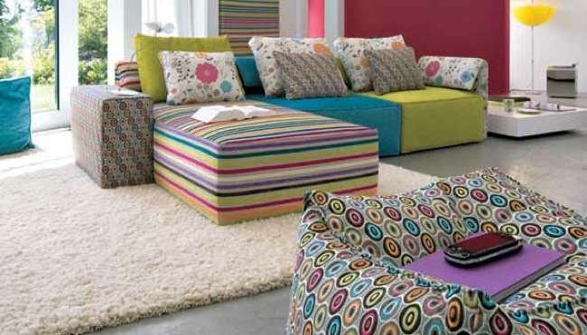 Kube basic un sof modular multicolor - Como tapizar un sofa en casa ...