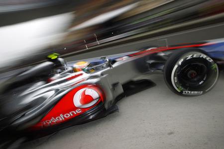 Michael Schumacher y Lewis Hamilton lideran la tabla de tiempos