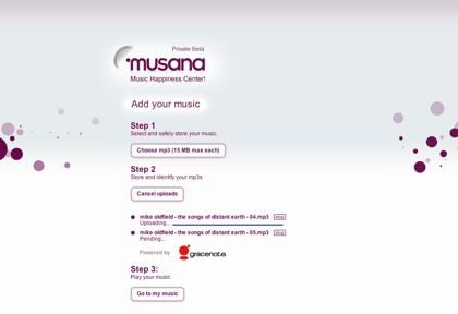 Musana, con la música a cualquier parte, desde un pc o móvil