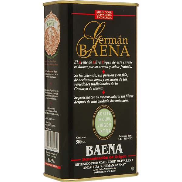 Aceite de oliva virgen extra Germán Baena lata 500 ml