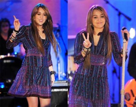 Miley Cyrus en la presentación de la película de Hannah Montana II