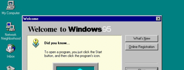 Windows 95 and its old interface are the best example of much that we miss in Windows 10