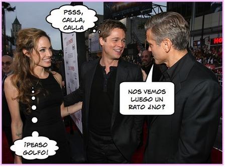 Angelina Jolie y George Clooney no se llevan muy bien