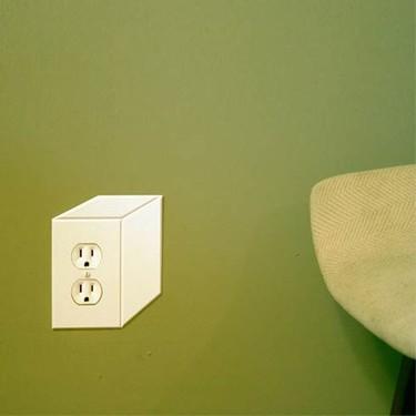 Enchufes e interruptores en tres dimensiones para decorar tu pared