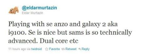 Más datos sobre el teléfono Android Samsung de doble núcleo, el sucesor de Galaxy S