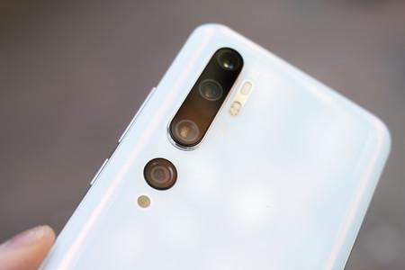 Detalle de las lentes del Xiaomi Mi Note 10 Pro