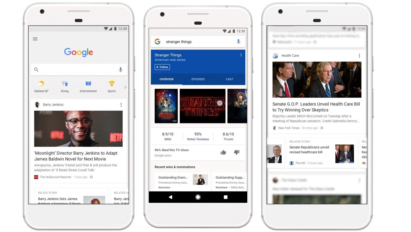 El nuevo feed de noticias de la app de Google te conocerá más que nunca