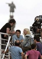 Primeras imágenes de Scarlett Johansson y Woody Allen rodando en Barcelona