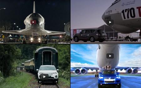 Cinco maniobras de marketing que también recurrieron a remolcar grandes bestias de la ingeniería, en vídeo