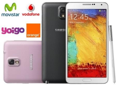 Comparativa precios Samsung Galaxy Note 3 con Movistar, Vodafone, Orange y Yoigo