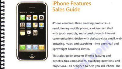 Detalles del iPhone desvelados en un curso de formación de venta