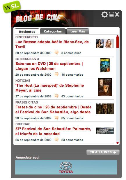 Blogdecine y todo WeblogsSL en tu escritorio
