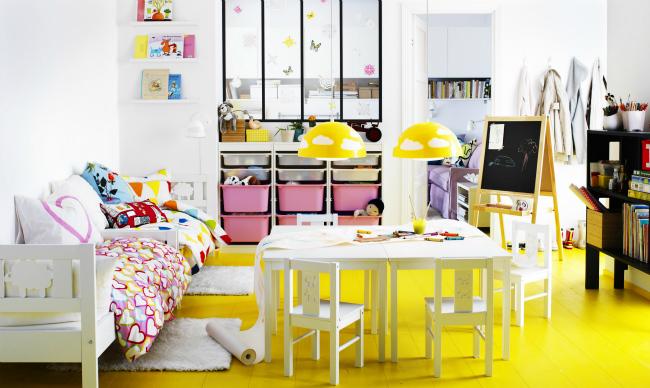Dormitorio amarillo de Ikea
