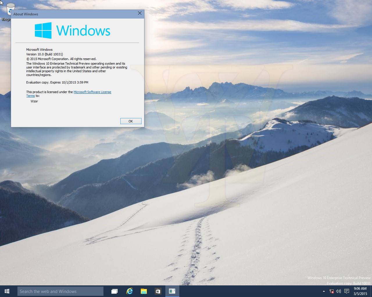 Foto de Build 10031 de Windows 10 (1/6)