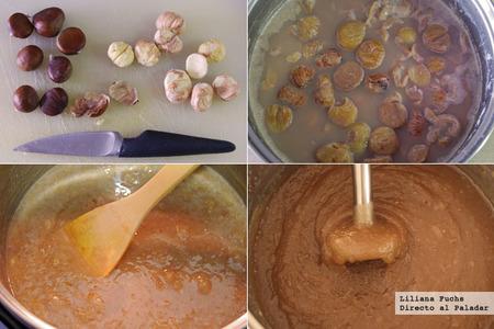 Cómo hacer dulce de castañas. Pasos