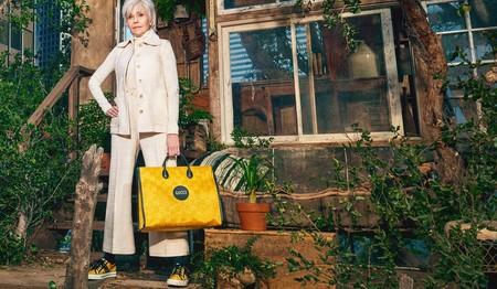 Jane Fonda se convierte en la estrella de la nueva campaña con prendas sostenibles de Gucci