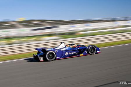 Formula e  coche eléctrico cambio manual