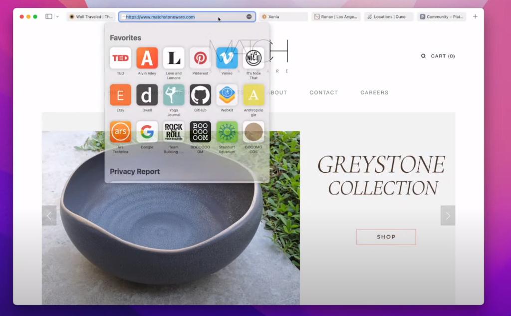 Así es el nuevo Safari de macOS Monterrey: interfaz ultrasimplificada y grupos de pestañas en iCloud