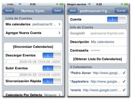Nemus Sync: Sincronización de Google Calendar con el calendario del iPhone