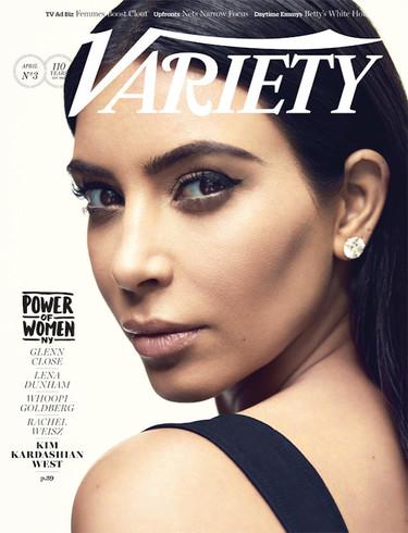 La revista Variety sabe que en la variedad está el gusto y mezcla todo tipo de celebrities, entre ellas Kim Kardashian