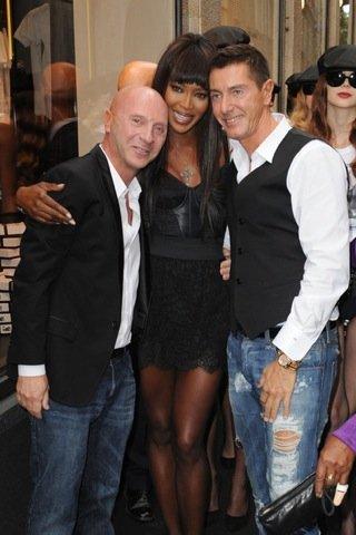 Naomi Campbell Semana de la Moda de Milán